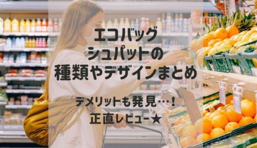 エコバッグシュパットの種類やサイズまとめ★デメリット正直デビュー!