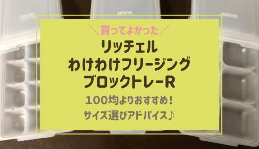 離乳食冷凍の入れ物おすすめはリッチェル!容器サイズ違いが100均より便利♪【レビュー】
