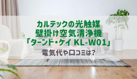 カルテック光触媒の壁掛け空気清浄機ターンドケイKLW01口コミ評判や電気代は?