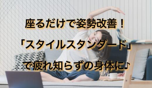 スタイルスタンダードなら座るだけで姿勢改善!疲れにくい身体になるって本当?